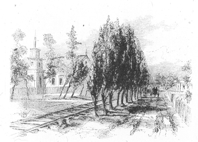 Ashland's Railroad Ave. circa 1866