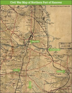 Civil War map of Northern Hanover County