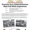 Untold Stories – Feb. 16, 2014 – Growing Up in Ashland/Hanover – Black and White Experiences